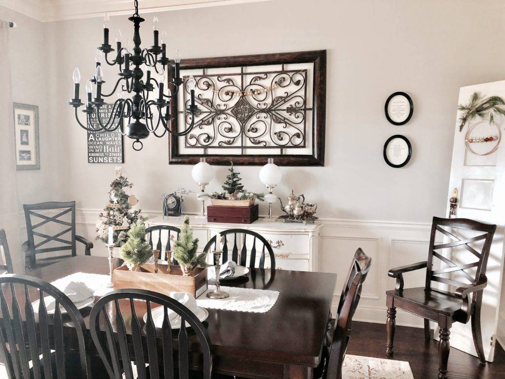 diy garland christmas dining room