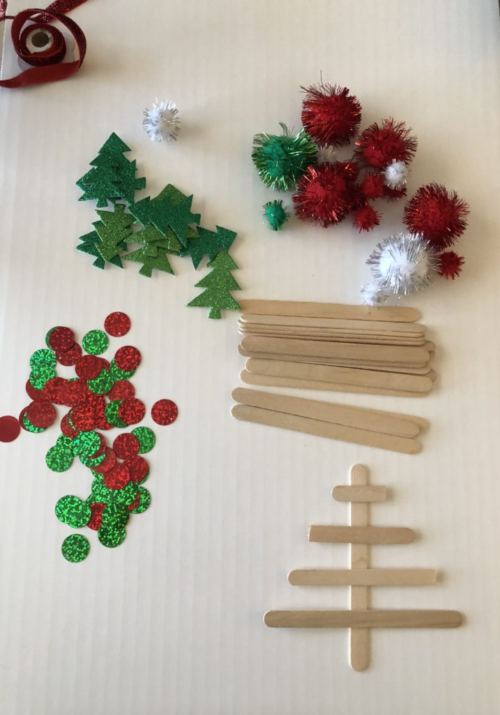 diy kids christmas craft popsicle stick tree