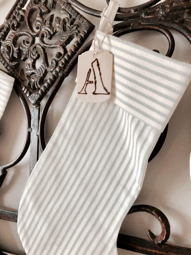 handmade stocking tags