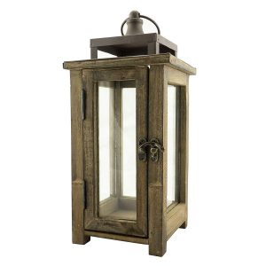 Winter decorating - wooden lantern