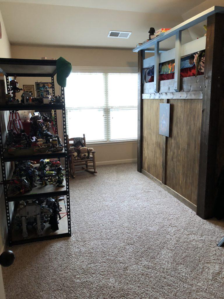 Declutter kids rooms