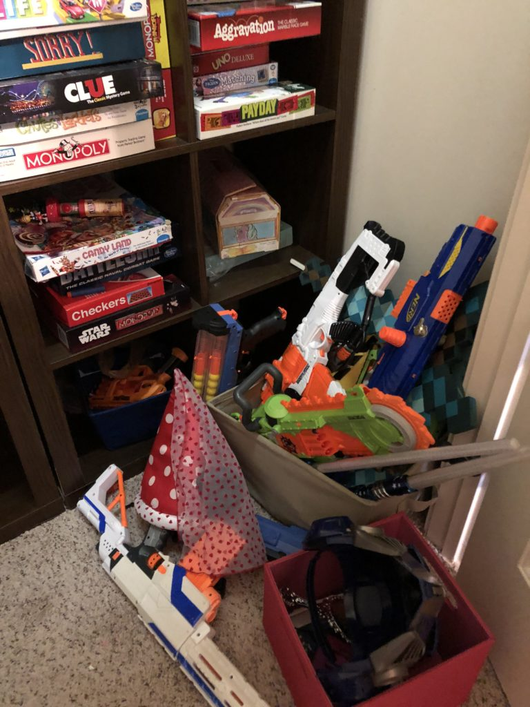 playroom nerf guns
