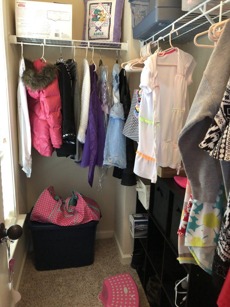 declutter challenge kids room closet