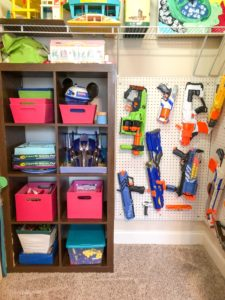 playroom makeover closet diy nerf gun