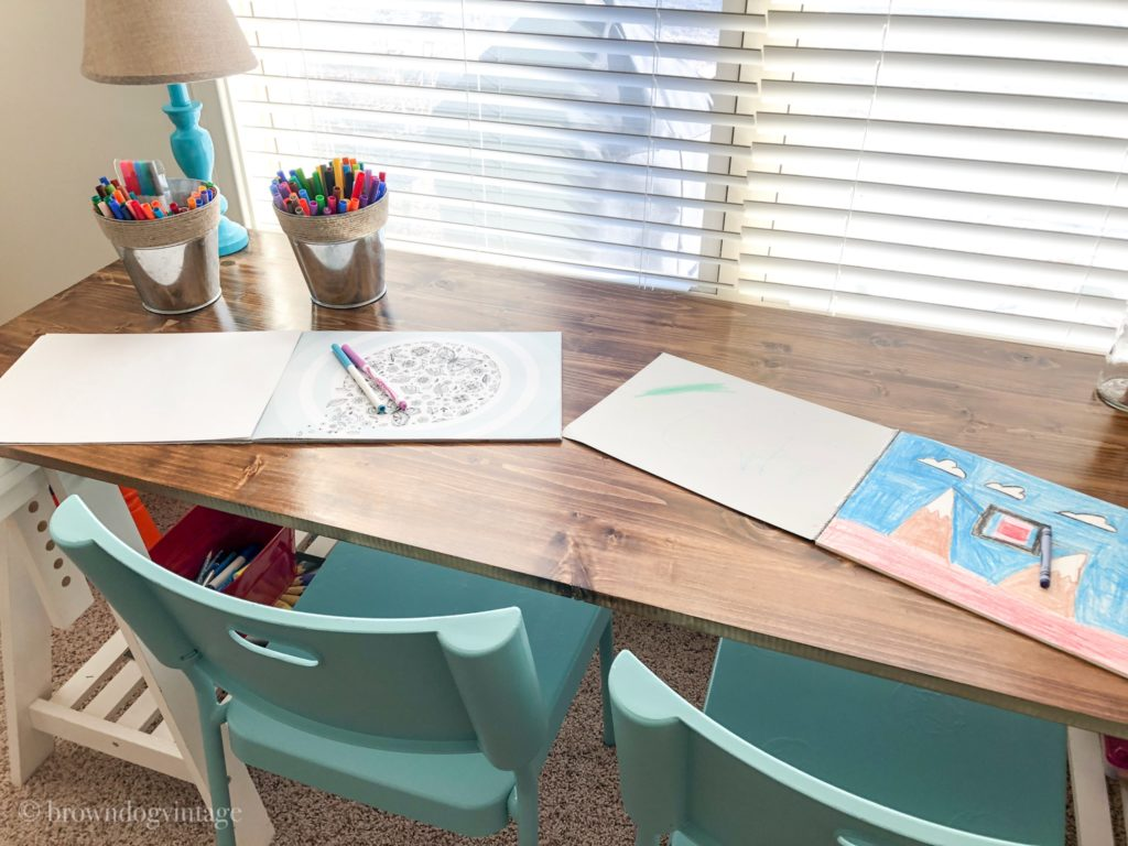 diy desk playroom makeover
