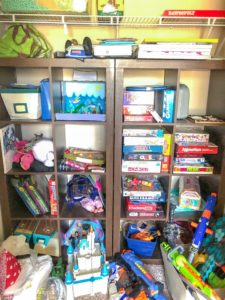playroom makeover before closet