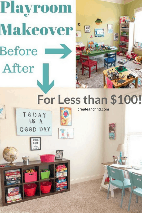 DIY Playroom Makeover for $100