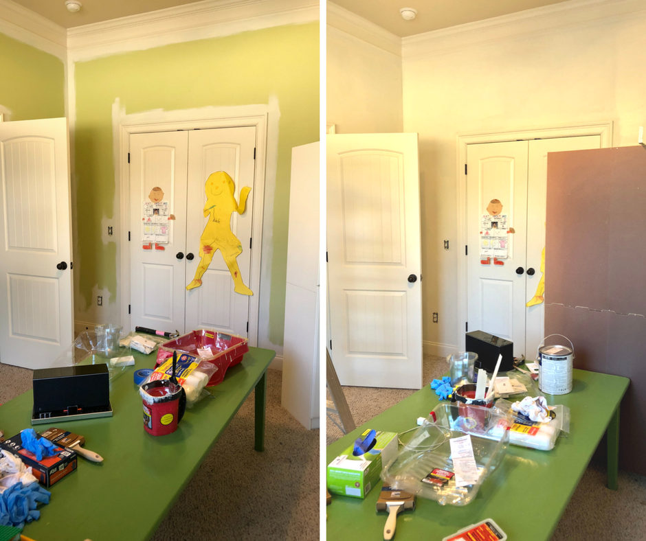 playroom makeover progress paint