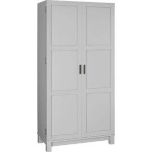 gray storage cabinet