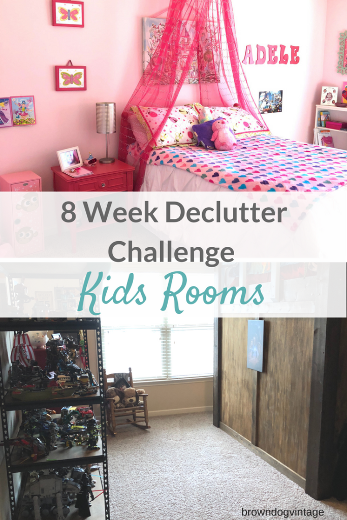 8 week declutter challenge kids bedrooms