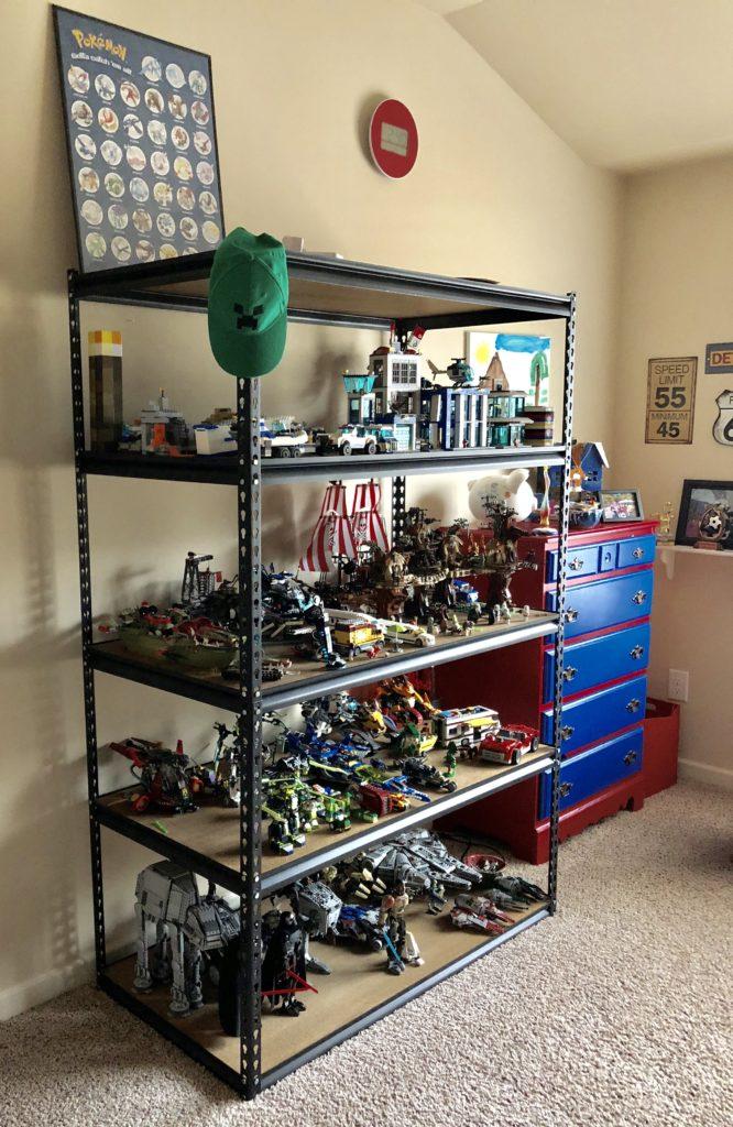 lego storage shelf