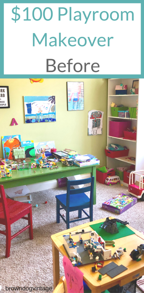 100 dollar playroom makeover before