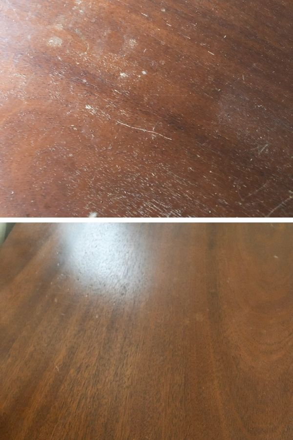 Using Restor-A-Finish for removing scratches