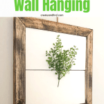 DIY Spring Art for your wall using wood scraps - an easy DIY Project for Spring! #createandfind #springart #diyprojects #woodworking