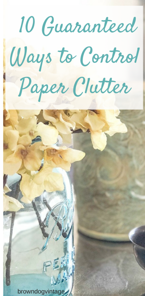 10 guaranteed ways to control paper clutter