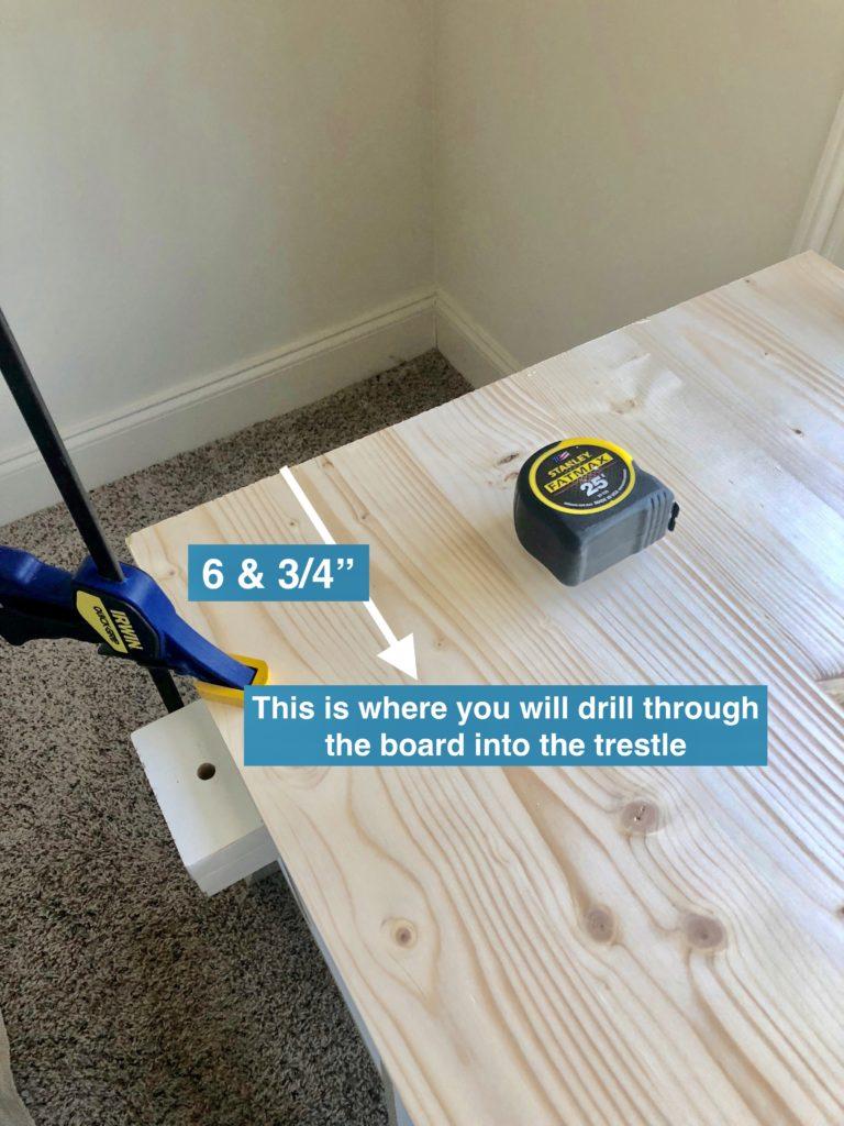DIY desk measurements