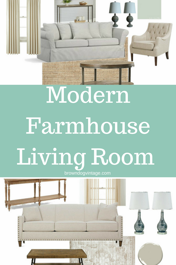How to create a modern farmhouse living room even if you don't live in a farmhouse!
