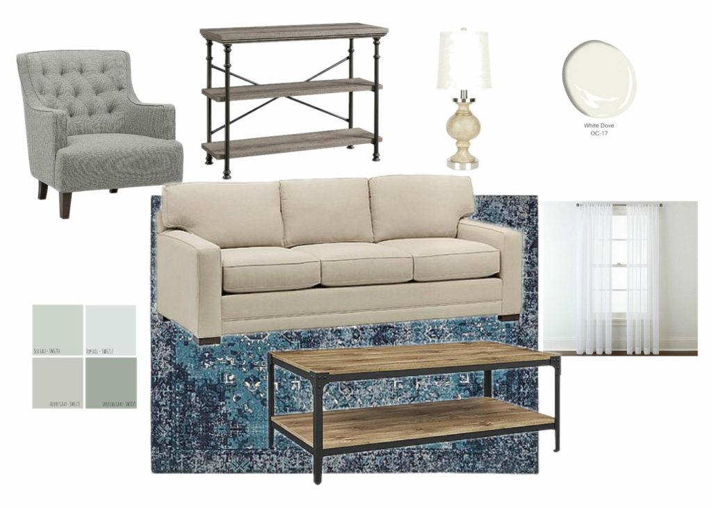 modern farmhouse living room moodboard 2