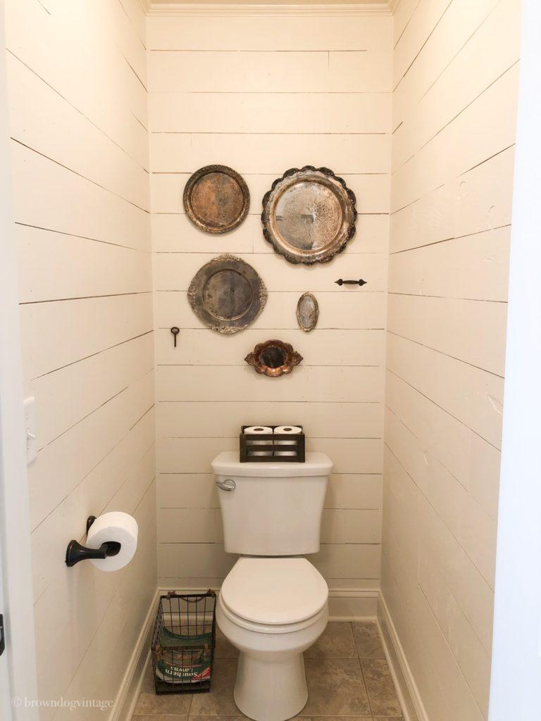 bathroom makeover shiplap