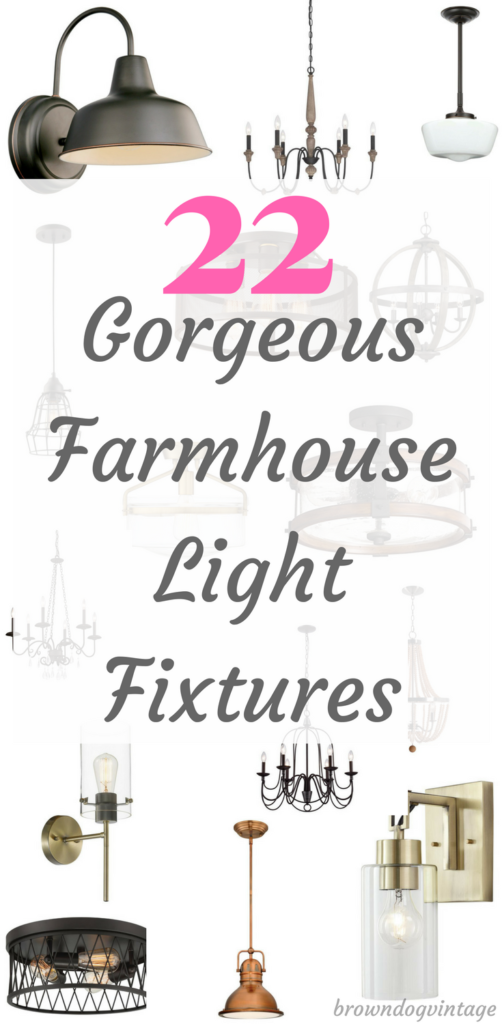 The best farmhouse light fixtures! Affordable and gorgeous lighting to add rustic style to your home #createandfind #farmhousedecor #lighting #lights #farmhousestyle