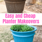 A quick and easy Spring DIY project to update your old planters. Don't buy new ones when you can update the old ones for cheap!