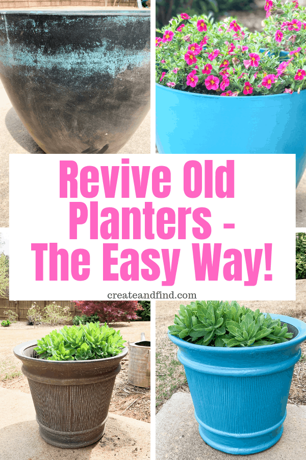Revive your old and worn out planters with paint - an easy DIY project that'll make them look new again