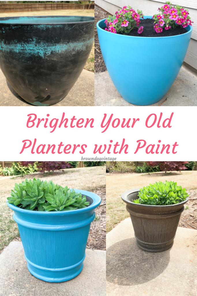 Outdoor Planter Makeovers - Refresh your old planters with DecoArt Paint