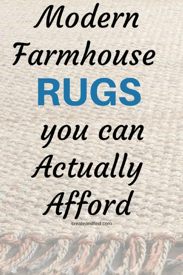 Affordable Modern Farmhouse Rugs