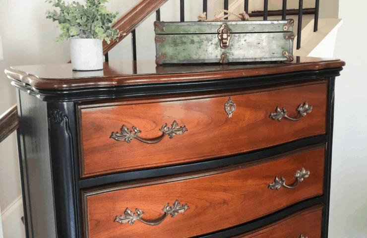 Thrifty DIY project - black dresser makeover