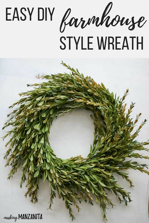 farmhouse style decor wreath