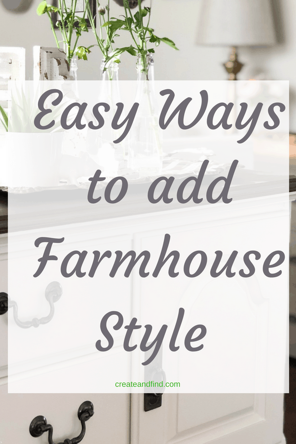 Stunning ways to add farmhouse style to your home. DIY projects, decor, and more #createandfind #farmhousestyle #rustic #farmhouse #farmhousedecor