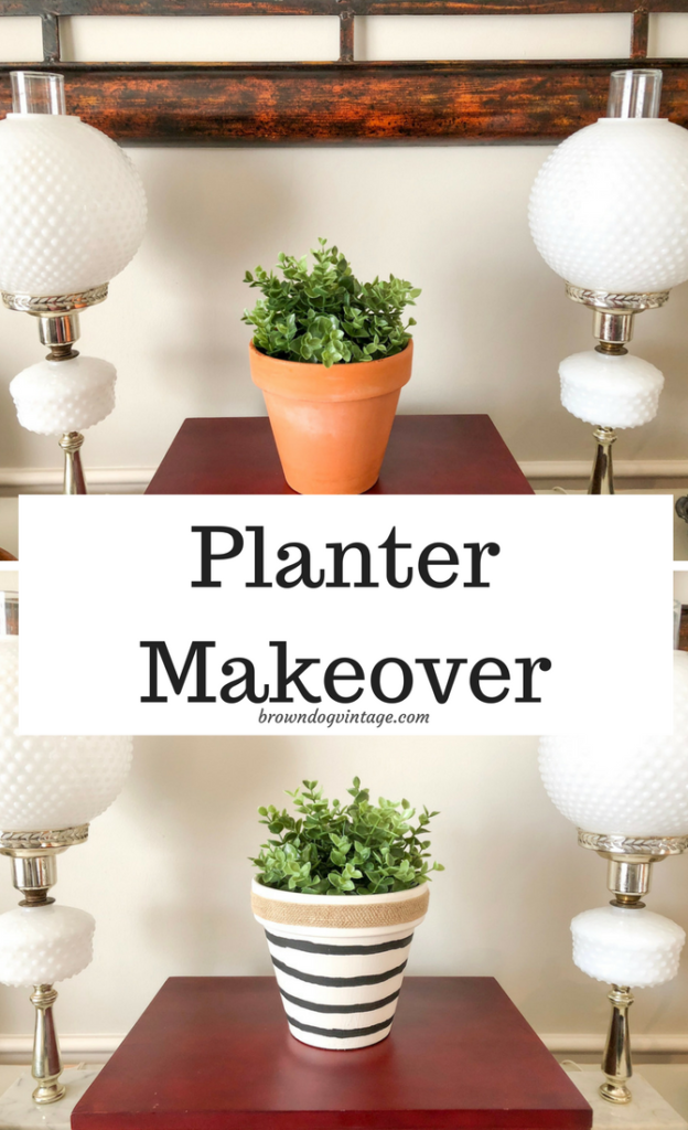 Painting Terra Cotta Pots - Dollar Store Planter Makeover