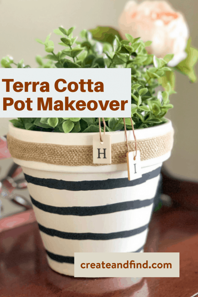 painting terra cotta pots - simple makeover