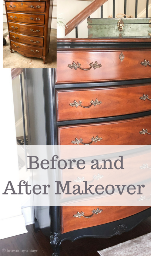 vintage dresser makeover deco art paint