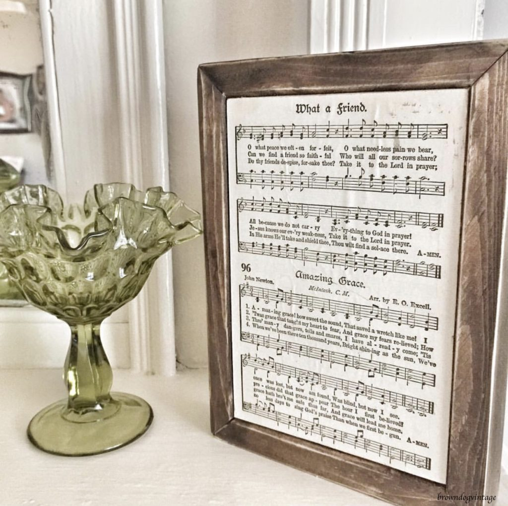 vintage song lyrics farmhouse style