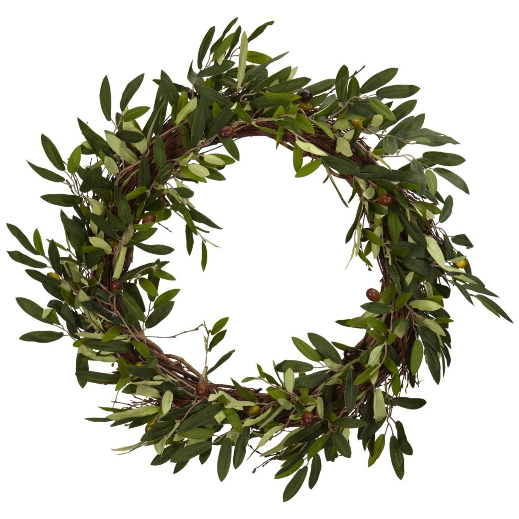 farmhouse style olive wreath
