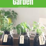 Make your own DIY Indoor Herb Garden this year and enjoy delicious herbs year round #createandfind #herbgarden #diyprojects #gardening