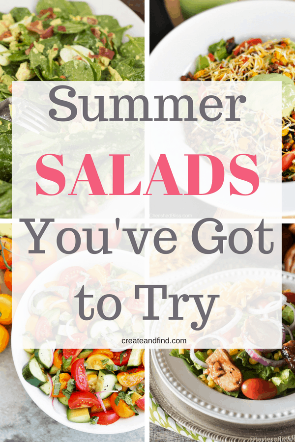 Summer salad recipes - fresh ingredients, healthy meals