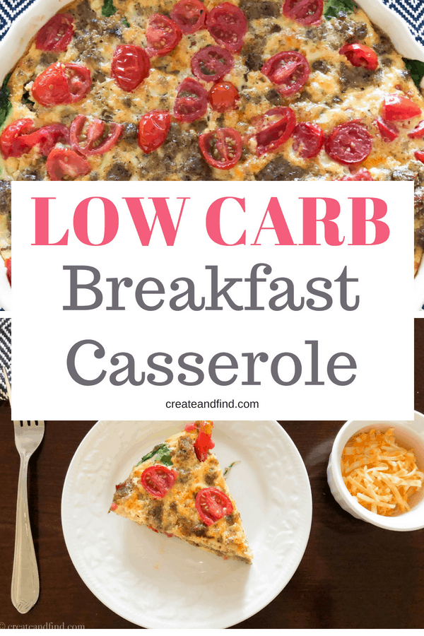 Keto breakfast casserole.  An easy and affordable recipe for a keto breakfast meal plan #createandfind #ketodiet #ketobreakfast #ketomealplan