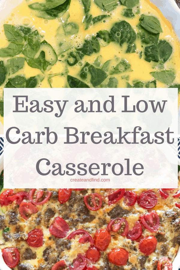 Keto Breakfast Casserole - A delicious low carb and keto friendly recipe to eat for breakfast.  #createandfind #ketodiet #ketobreakfast #keto #lowcarbbreakfast #breakfastideas