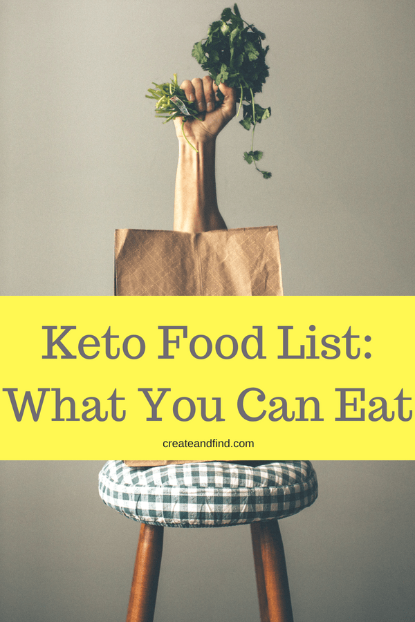 Keto Food List - What you can eat on a keto diet, what foods to avoid. Keto diet for beginners - protein, vegetable, fruits, nuts, and more #createandfind #ketodiet #keto #ketolifestyle #ketoforbeginners