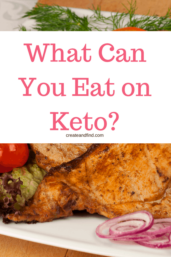 Keto for beginners - a food list to tell you what you can eat on a keto diet.