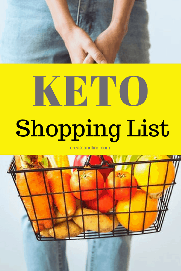 Keto Grocery shopping list to feed a family of four - a complete list of breakfast, lunch, dinner and snacks for keto beginners to start your healthy lifestyle. A must read for meal prep #createandfind #ketoshoppinglist #ketofoods #keto