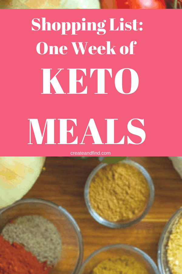 Weekly keto grocery shopping list for a family of four - what to buy to make one week's worth of meal prep for a keto diet. A must read for keto beginners #createandfind #ketodiet #ketomealplan #mealprep