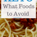 Foods to avoid on a keto diet