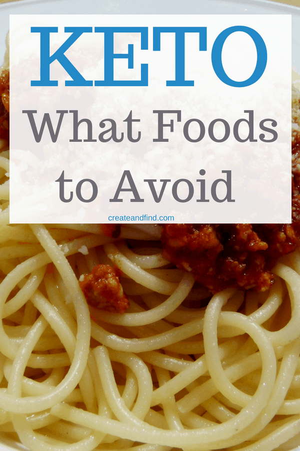 Foods to avoid on a keto diet - which foods you shouldn't eat to get successful results from your keto diet #createandfind #ketodiet #keto #ketolifestyle #ketofoods