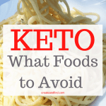 Keto Diet - What foods should be avoided