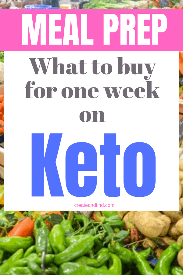 A complete list of foods to shop for when eating one week's worth of keto breakfast, lunch, dinner, and snacks. Make a meal plan that will help keep your healthy eating on track #createandfind #ketodiet #keto #ketoshoppinglist