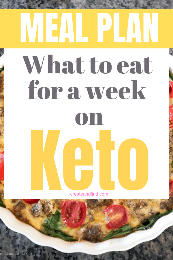 Keto meal planning made easy with this affordable and simple weekly meal prep. One week's worth of breakfast, lunch, dinner, and snacks that are keto friendly and include options when the rest of the house isn't on keto #createandfind #keto #ketomealplan