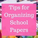Organizing school paper ideas